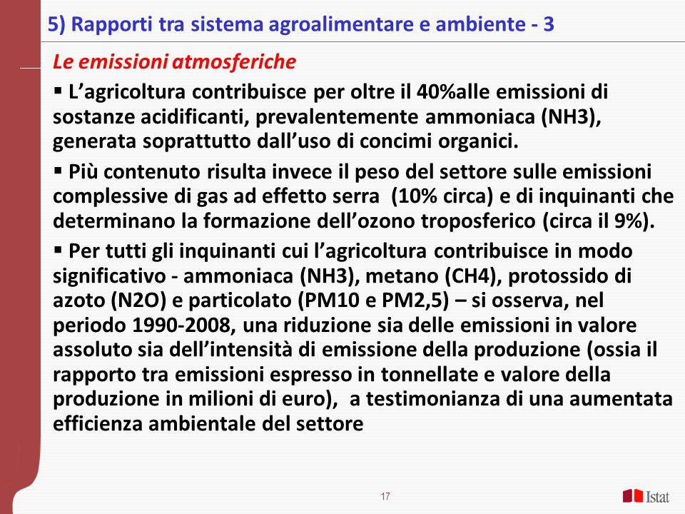 5) Rapporti tra sistema agroalimentare e ambiente - 3