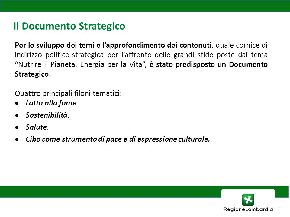 Il Documento Strategico