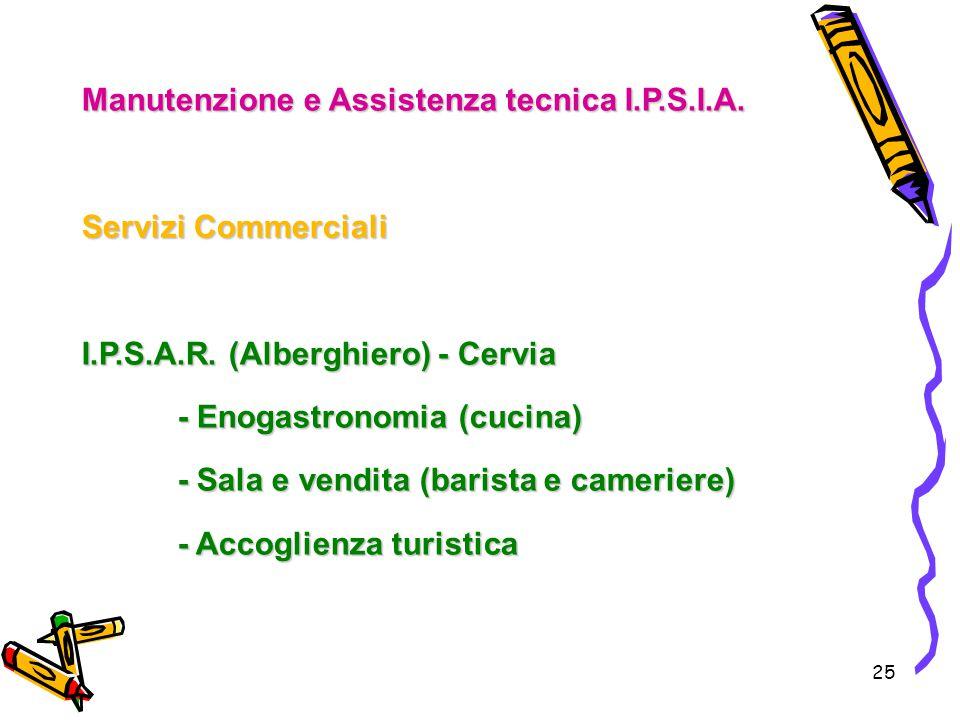 Manutenzione e Assistenza tecnica I.P.S.I.A.