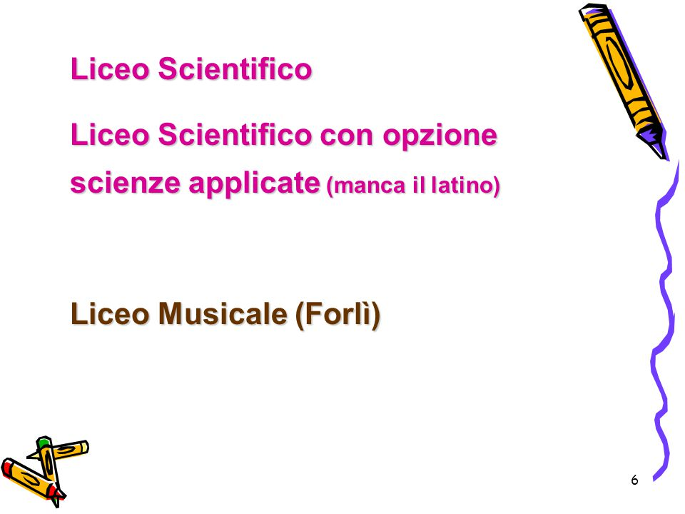 Liceo Scientifico con opzione scienze applicate (manca il latino)