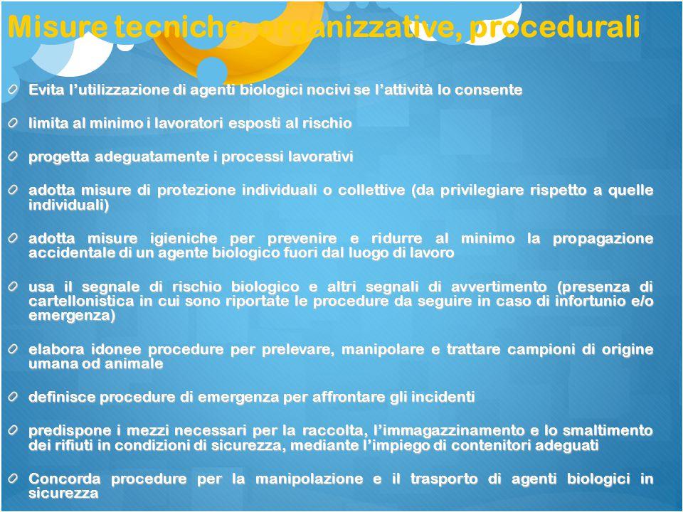 Misure tecniche, organizzative, procedurali