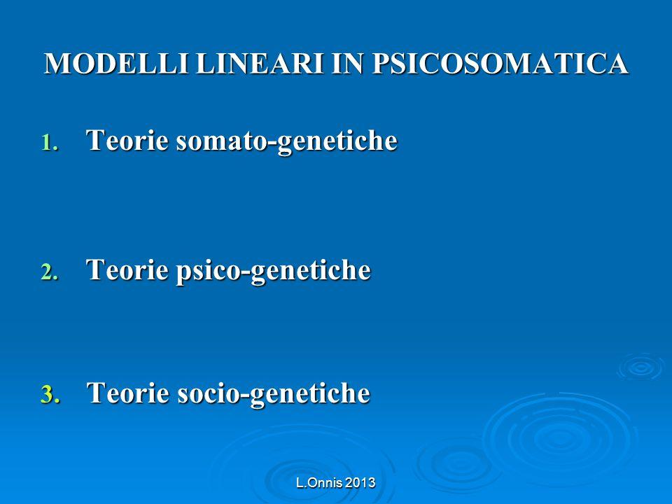 MODELLI LINEARI IN PSICOSOMATICA