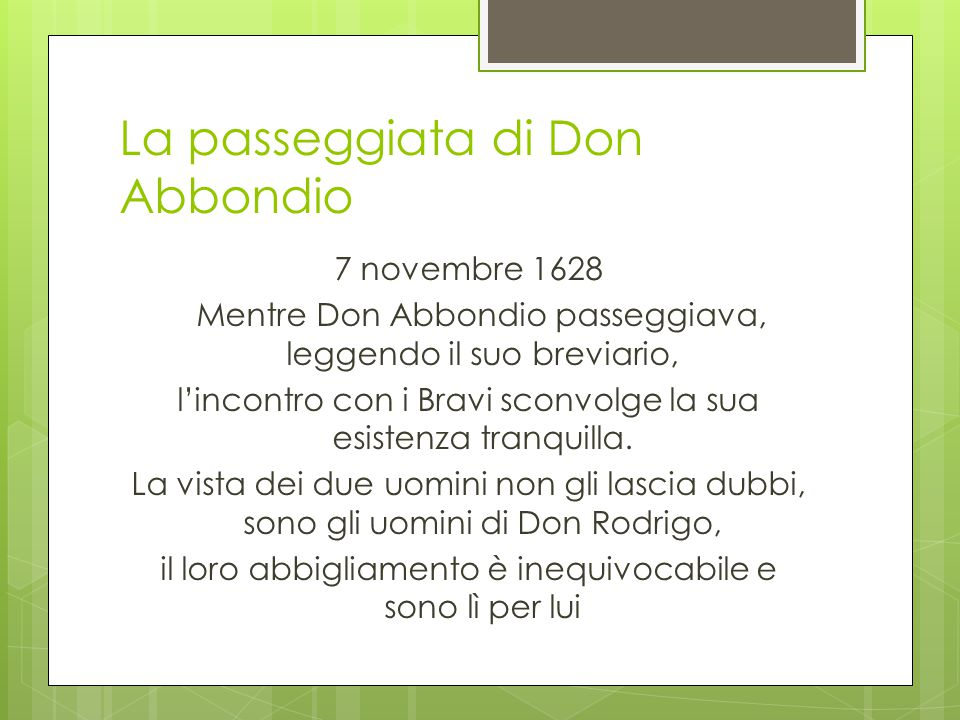 La passeggiata di Don Abbondio