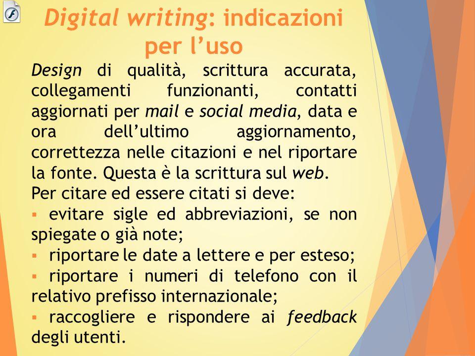 Digital writing: indicazioni per l'uso