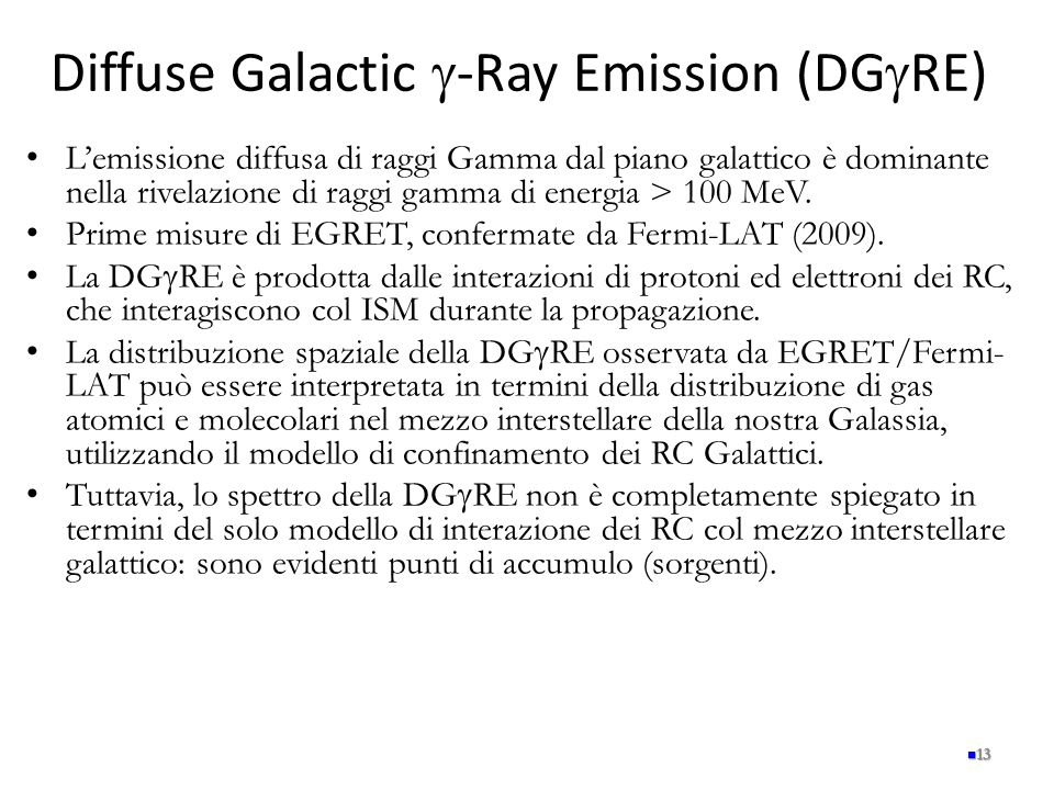Diffuse Galactic g-Ray Emission (DGgRE)