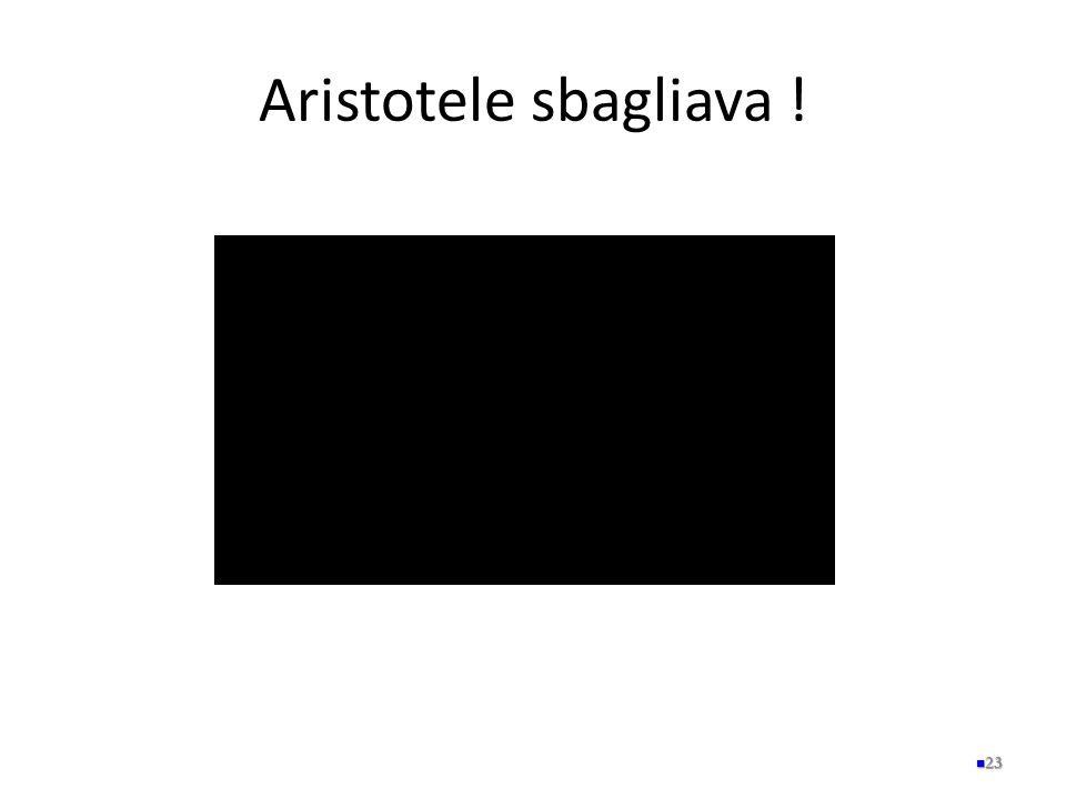 Aristotele sbagliava !