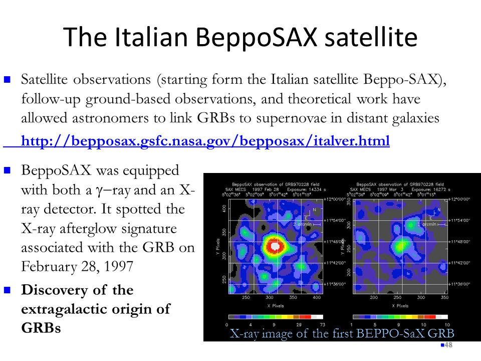 The Italian BeppoSAX satellite