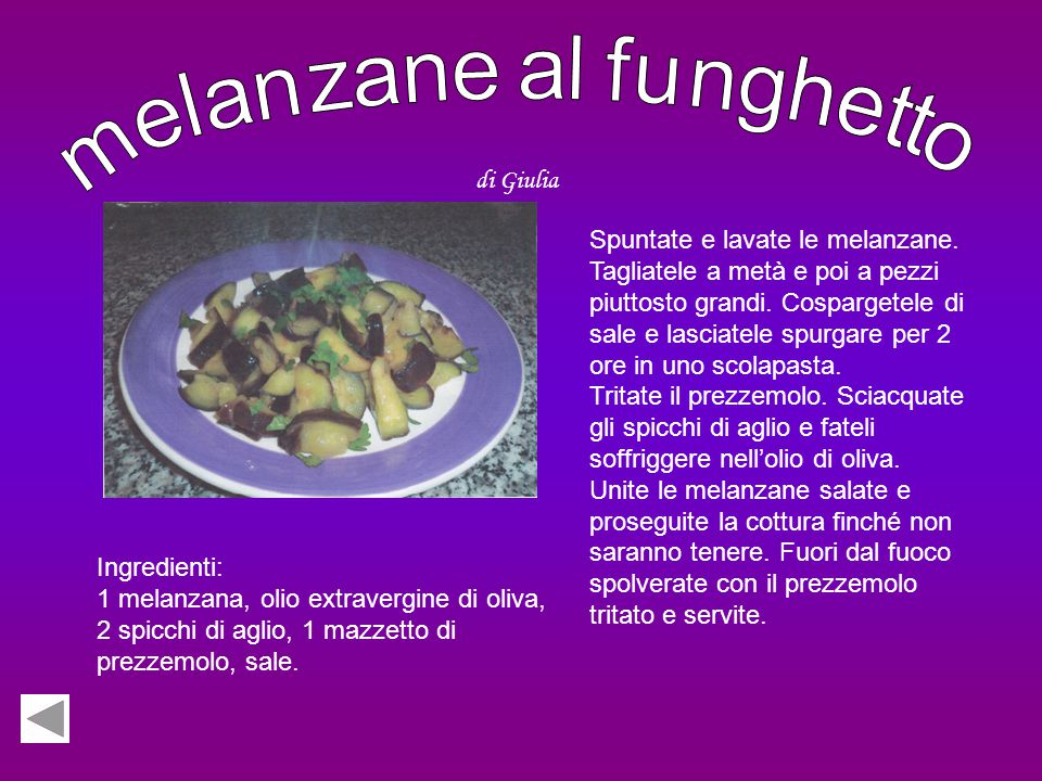 melanzane al funghetto