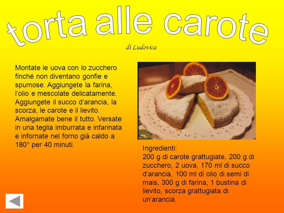 torta alle carote di Ludovica