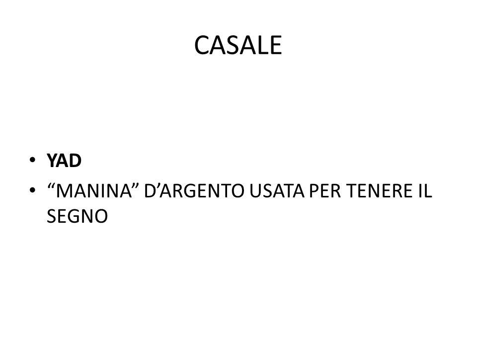 CASALE YAD MANINA D'ARGENTO USATA PER TENERE IL SEGNO