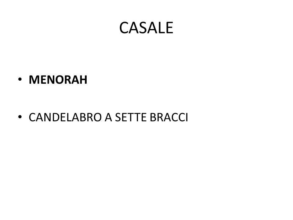 CASALE MENORAH CANDELABRO A SETTE BRACCI