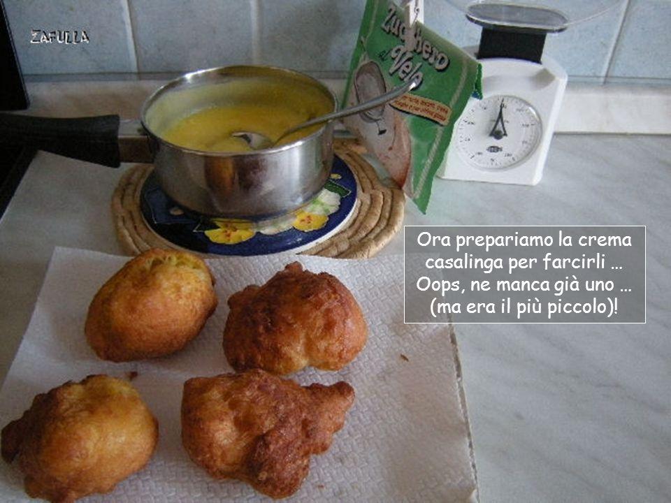 Ora prepariamo la crema casalinga per farcirli …