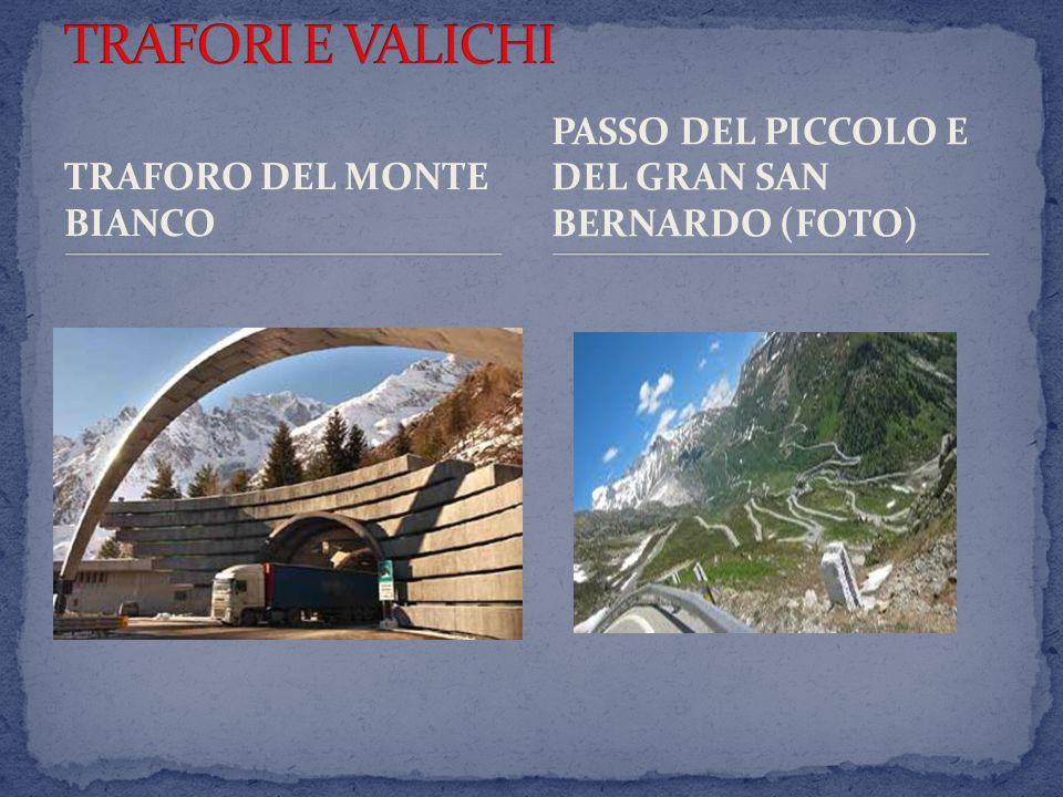 TRAFORI E VALICHI PASSO DEL PICCOLO E DEL GRAN SAN BERNARDO (FOTO)