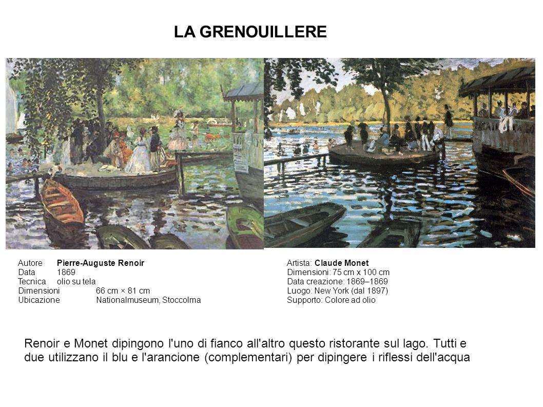 LA GRENOUILLERE Autore Pierre-Auguste Renoir. Data 1869. Tecnica olio su tela. Dimensioni 66 cm × 81 cm.