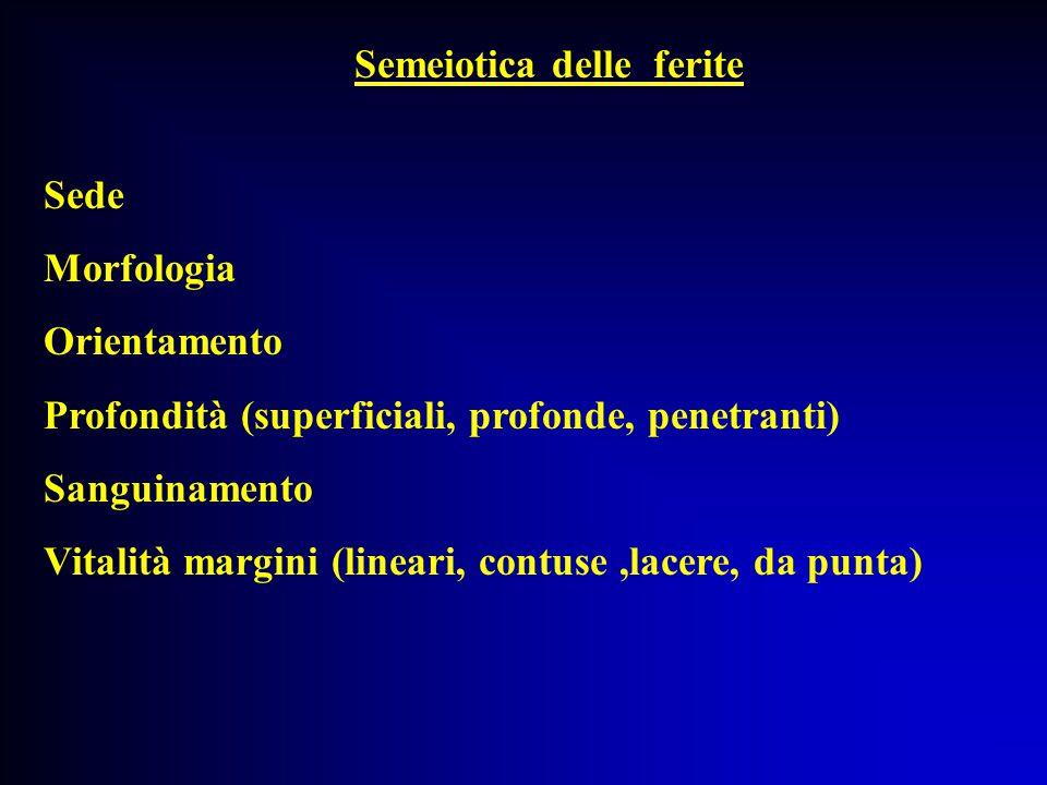 Semeiotica delle ferite
