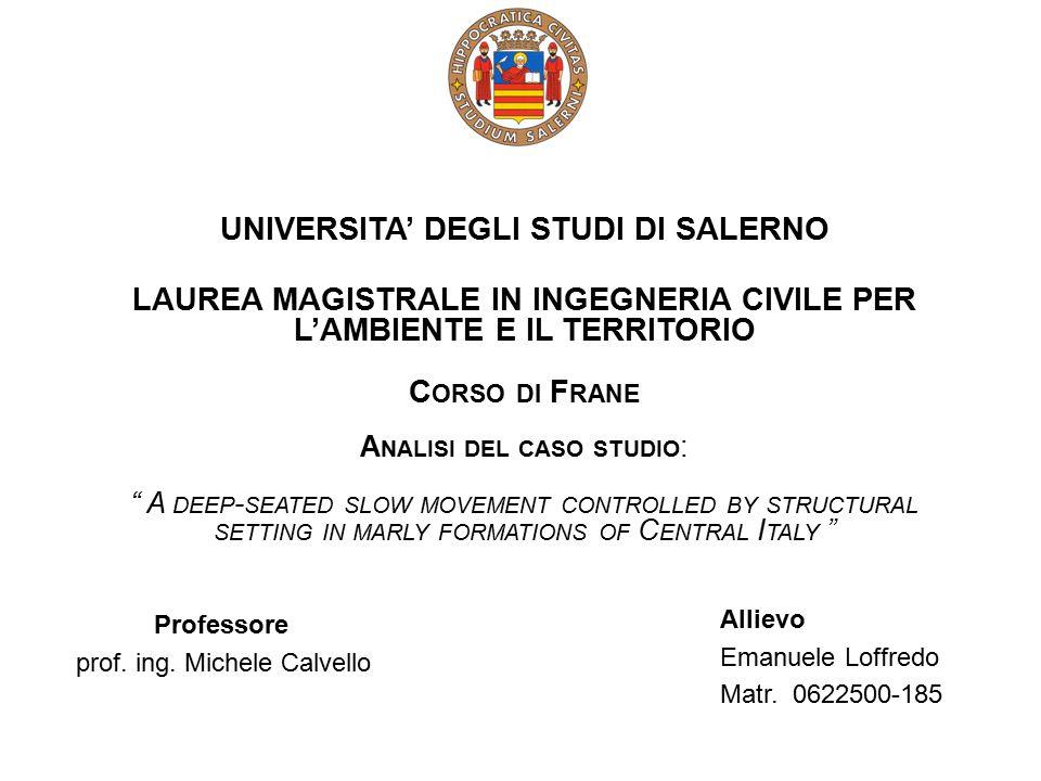 UNIVERSITA' DEGLI STUDI DI SALERNO