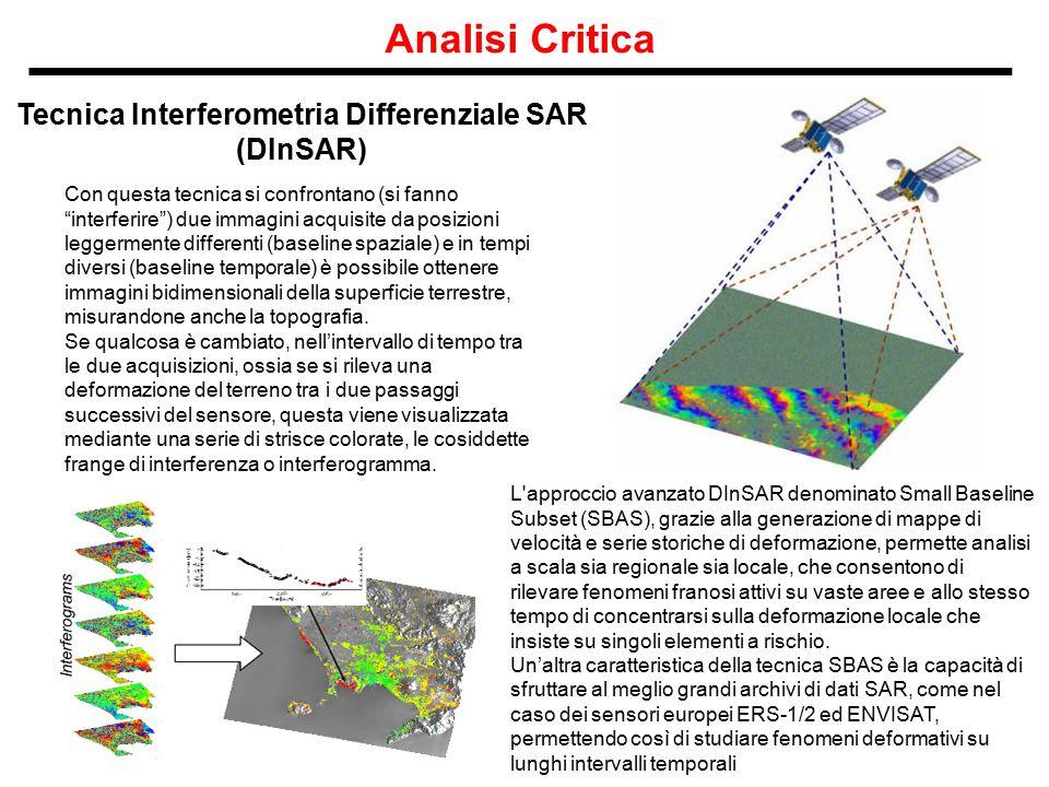 Tecnica Interferometria Differenziale SAR