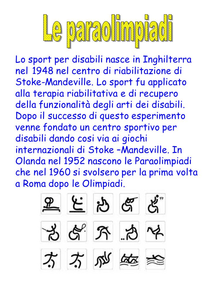 Le paraolimpiadi
