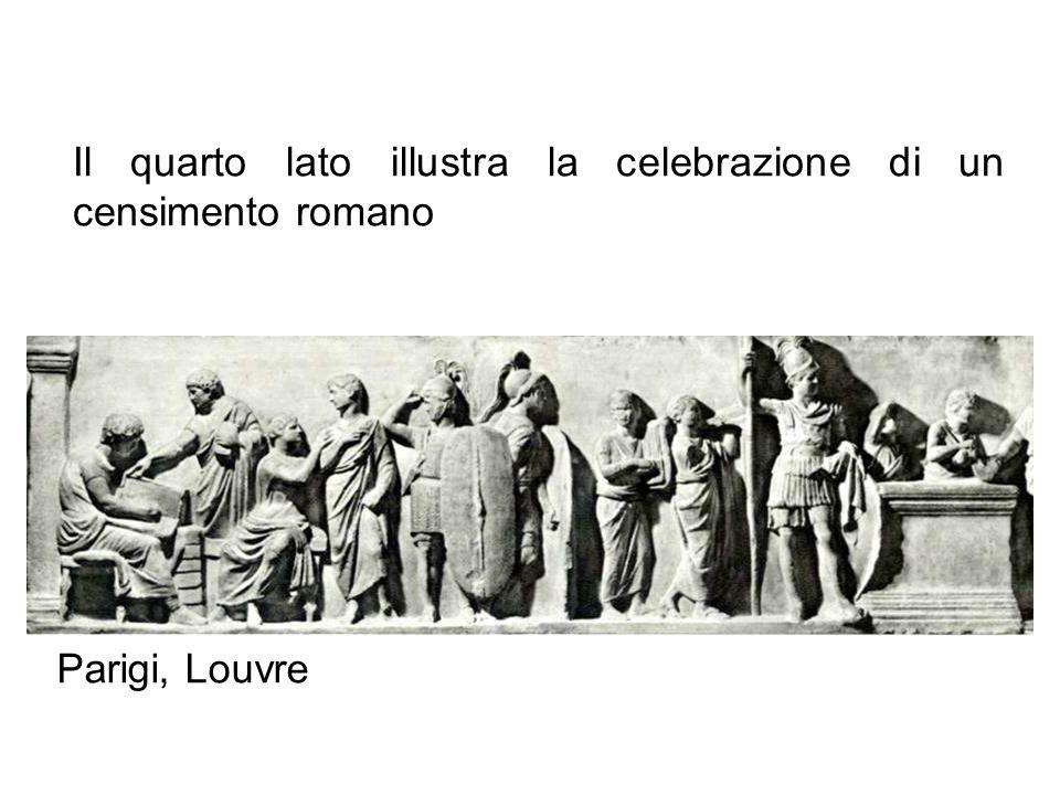 Il quarto lato illustra la celebrazione di un censimento romano
