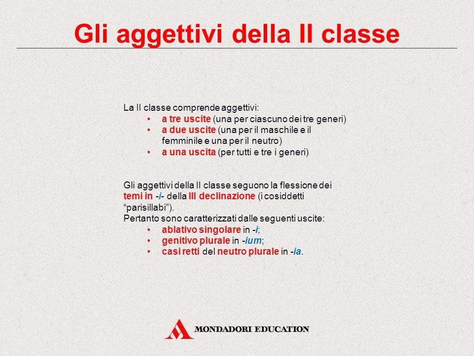 Gli aggettivi della II classe