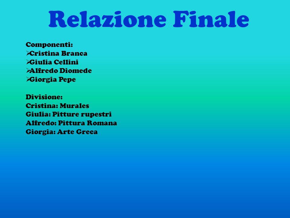 Relazione Finale Componenti: Cristina Branca Giulia Cellini