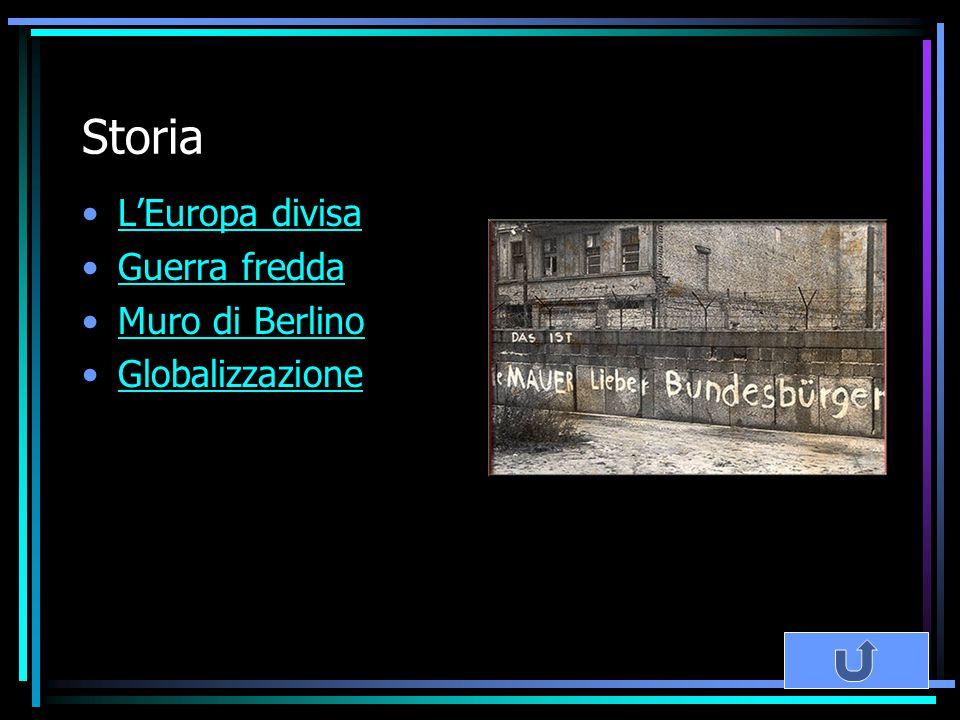 Storia L'Europa divisa Guerra fredda Muro di Berlino Globalizzazione