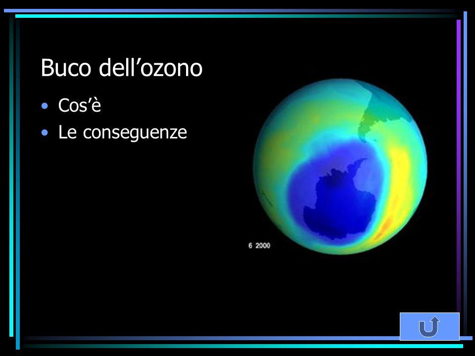 Buco dell'ozono Cos'è Le conseguenze