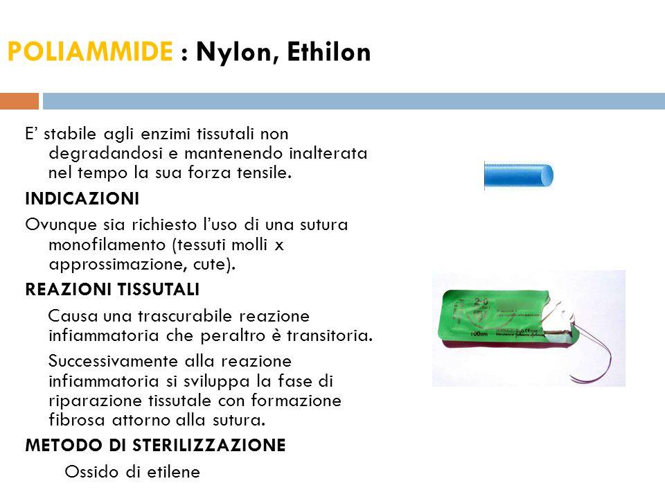 POLIAMMIDE : Nylon, Ethilon