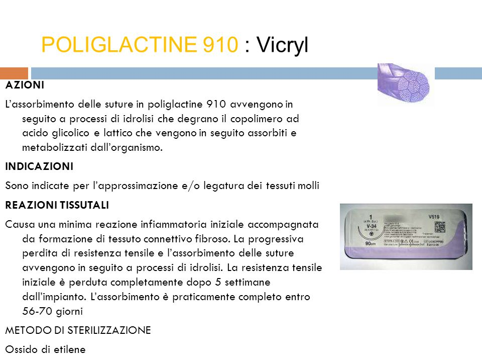 POLIGLACTINE 910 : Vicryl