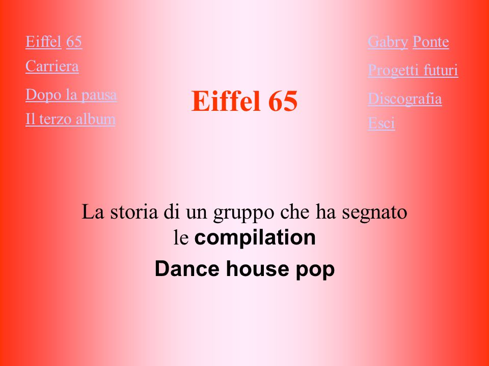 La storia di un gruppo che ha segnato le compilation Dance house pop
