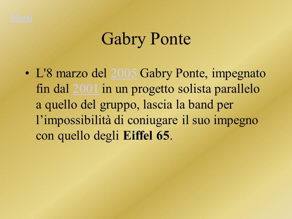 Menù Gabry Ponte.