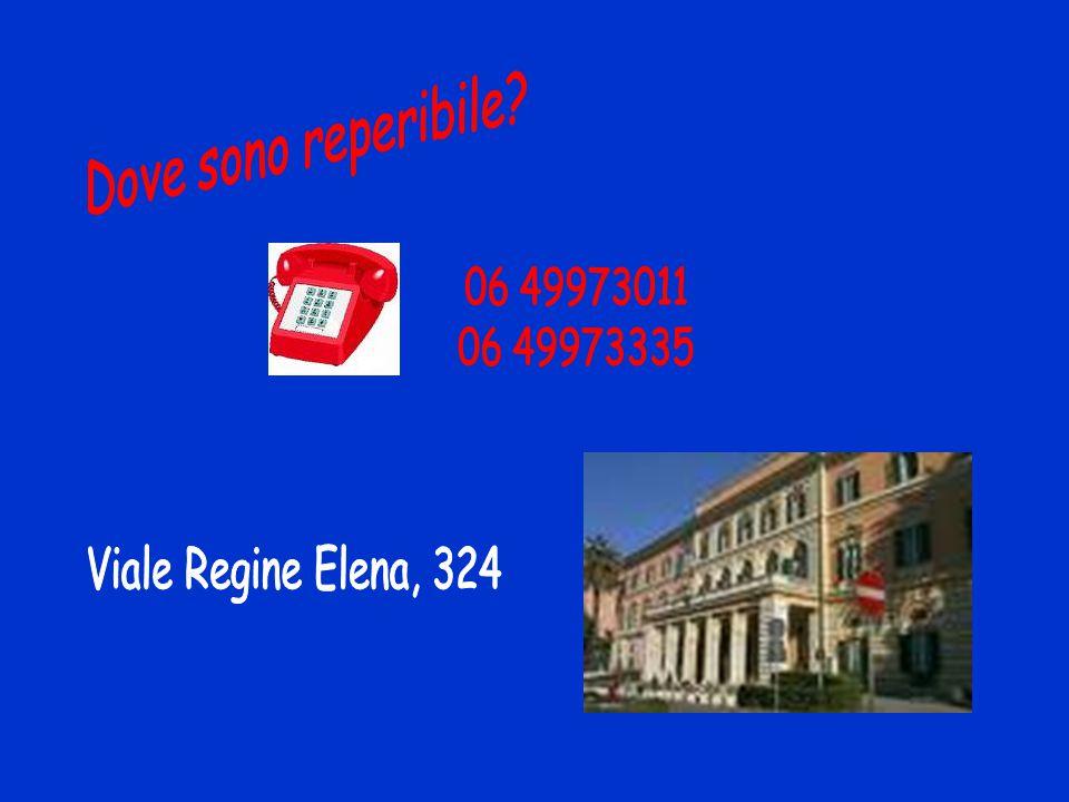 Dove sono reperibile 06 49973011 06 49973335 Viale Regine Elena, 324
