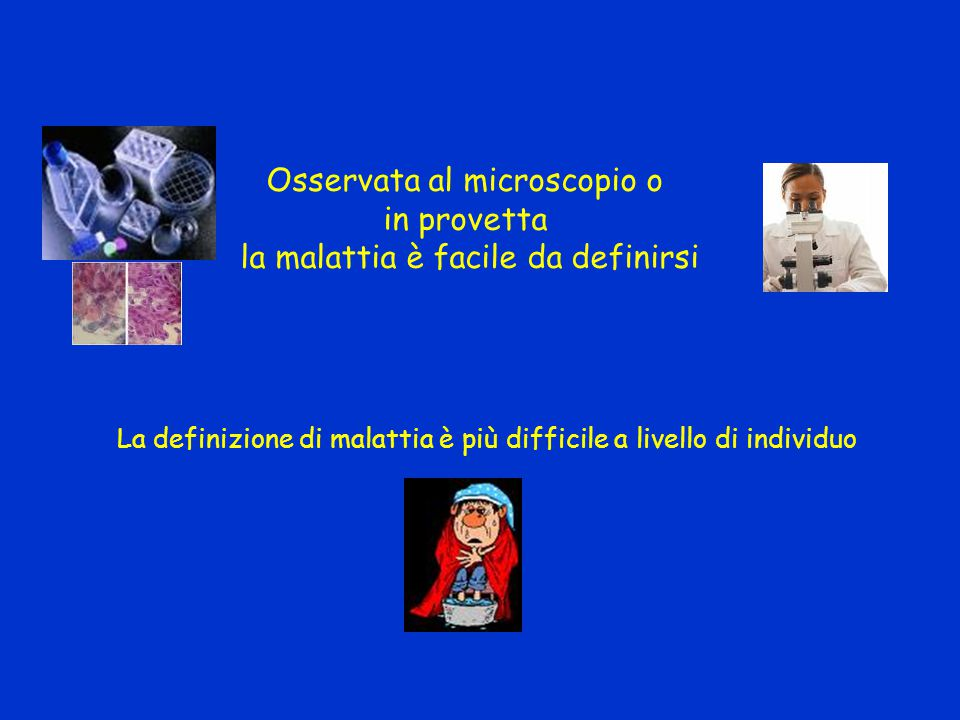 Osservata al microscopio o in provetta