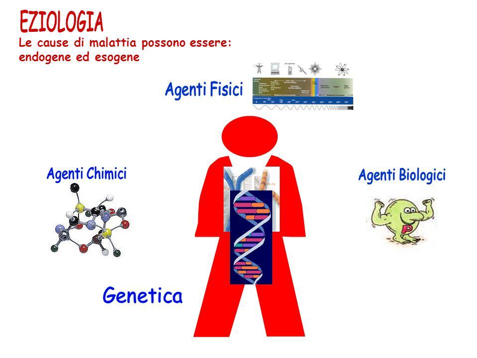 EZIOLOGIA Agenti Fisici Le cause di malattia possono essere:
