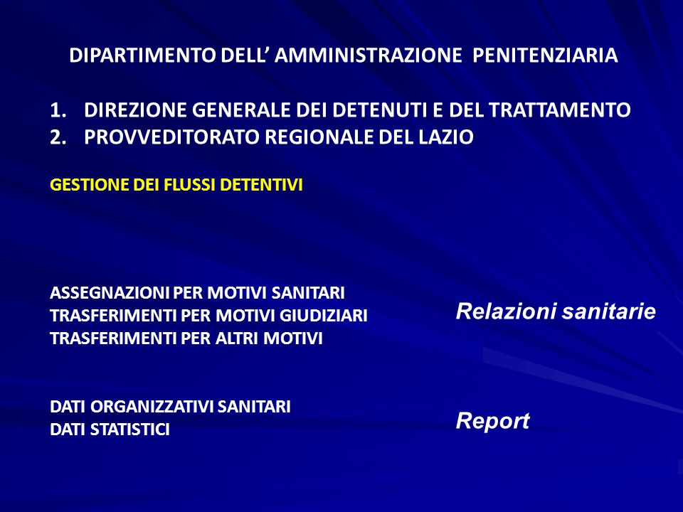 DIPARTIMENTO DELL' AMMINISTRAZIONE PENITENZIARIA