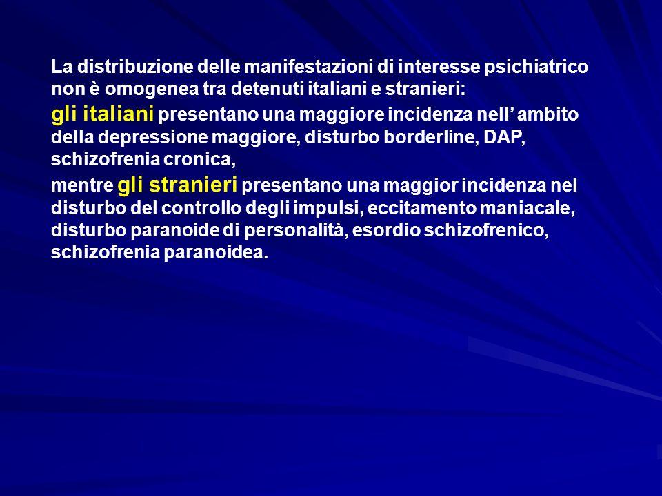 gli italiani presentano una maggiore incidenza nell' ambito