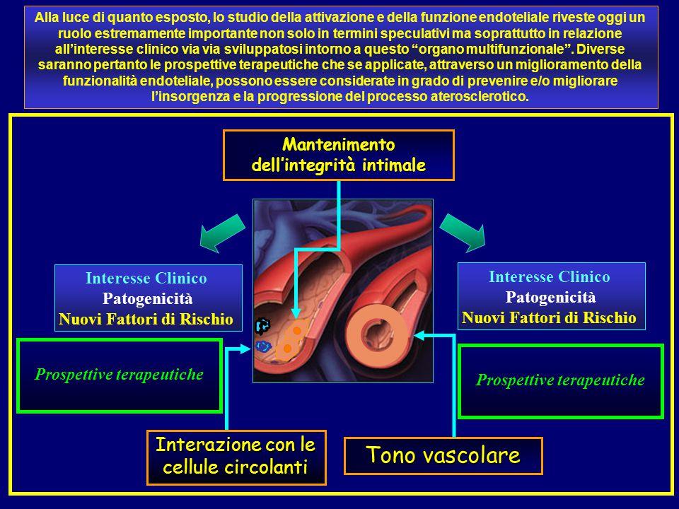 Tono vascolare Interazione con le cellule circolanti