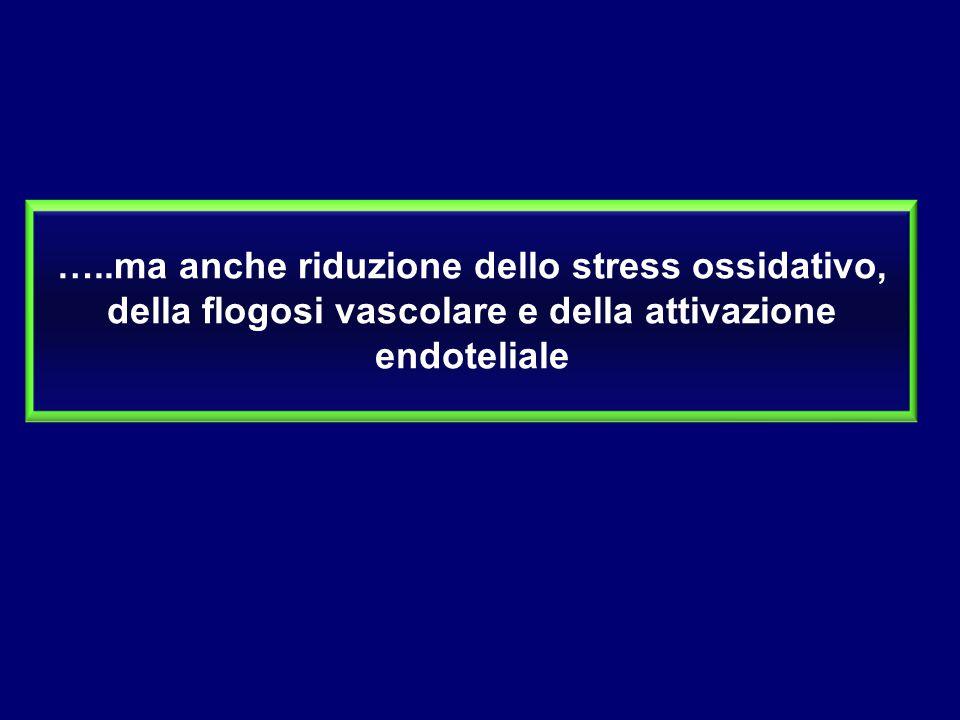 …..ma anche riduzione dello stress ossidativo, della flogosi vascolare e della attivazione endoteliale
