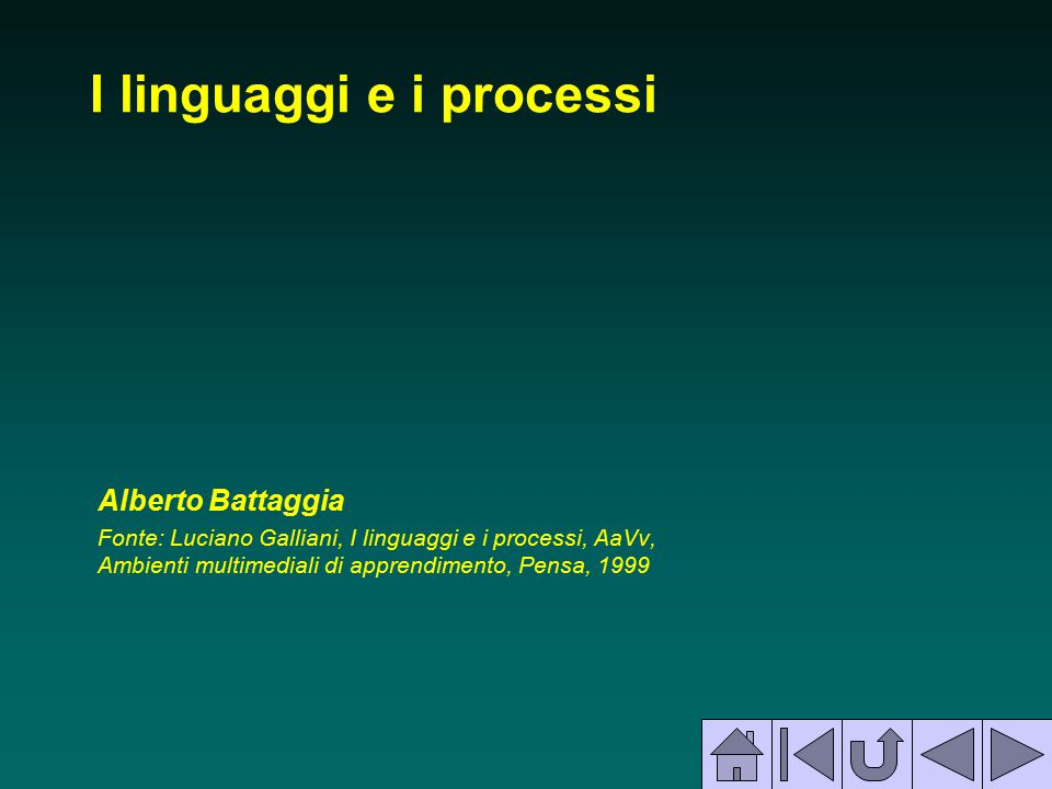 I linguaggi e i processi
