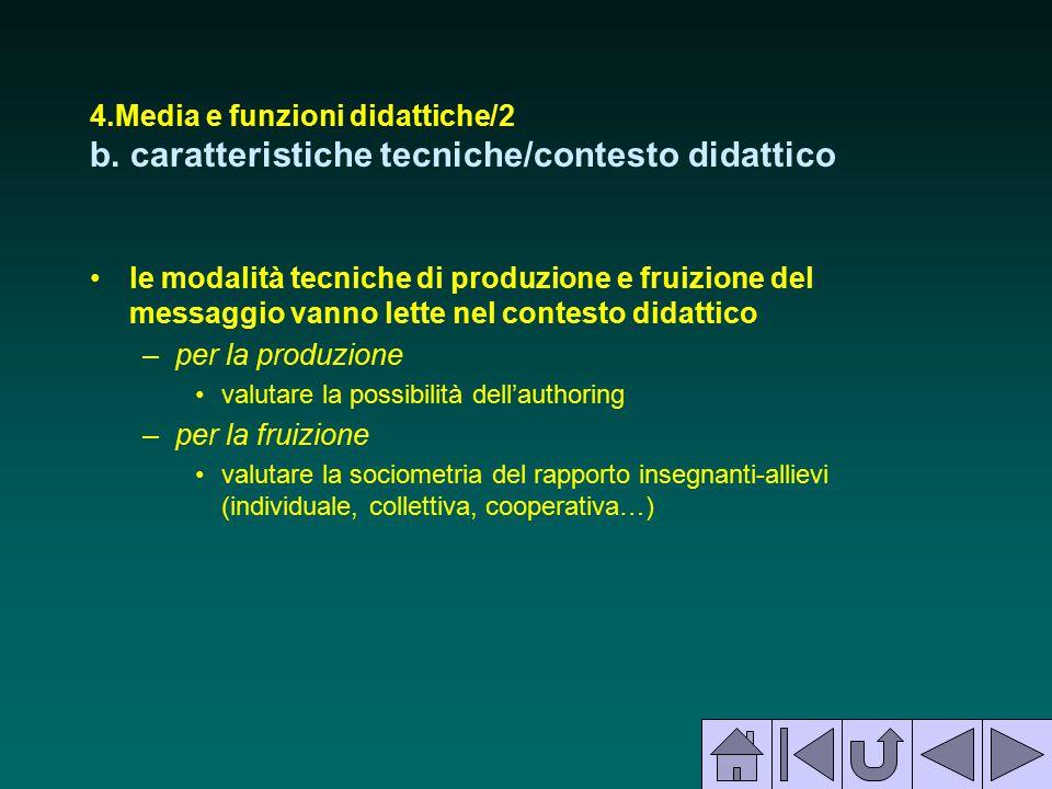 4. Media e funzioni didattiche/2 b