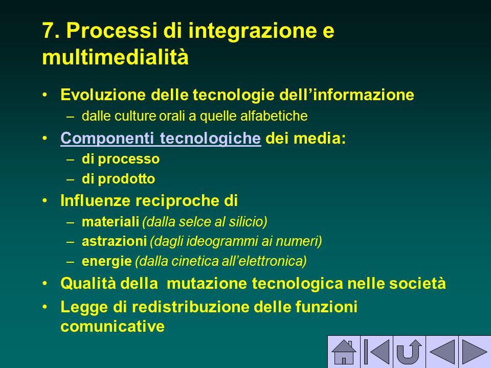 7. Processi di integrazione e multimedialità