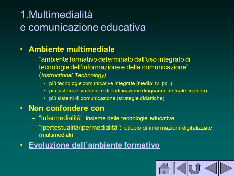 1.Multimedialità e comunicazione educativa