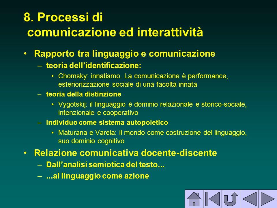 8. Processi di comunicazione ed interattività