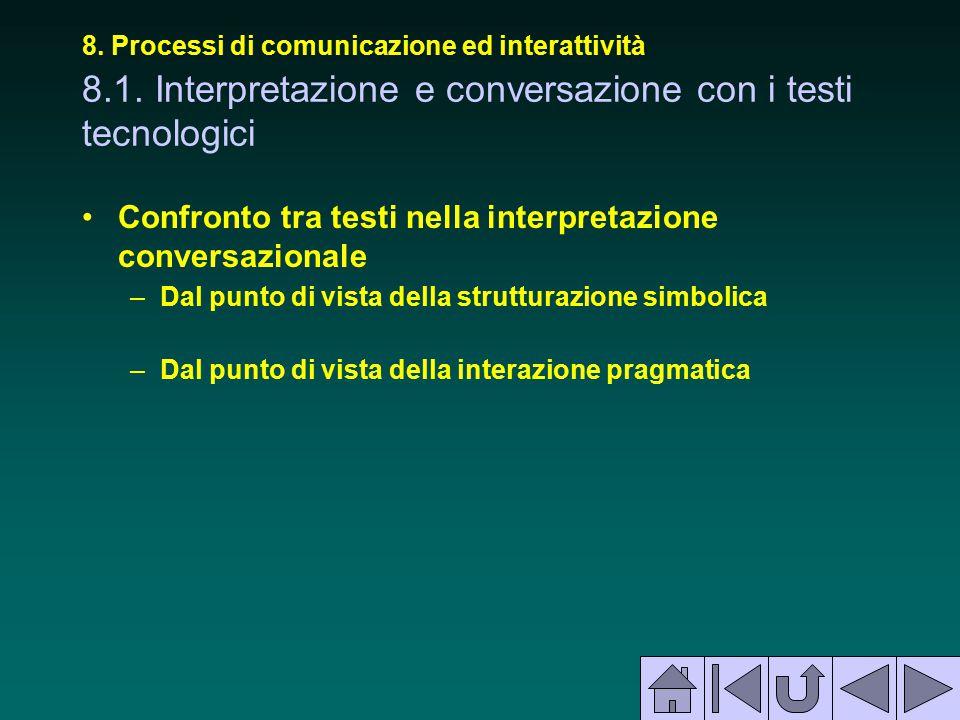 Confronto tra testi nella interpretazione conversazionale