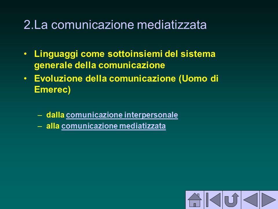 2.La comunicazione mediatizzata
