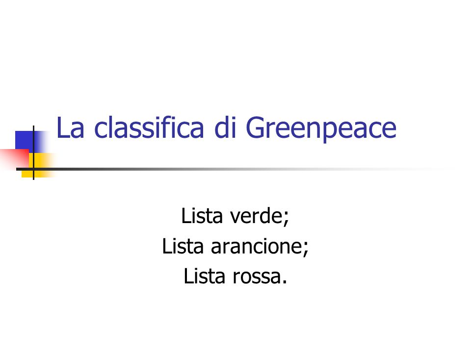 La classifica di Greenpeace