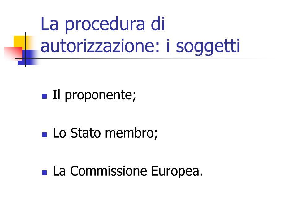 La procedura di autorizzazione: i soggetti