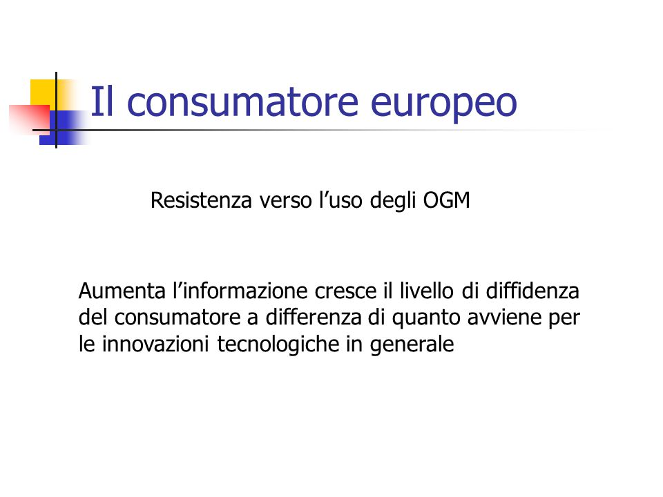 Il consumatore europeo