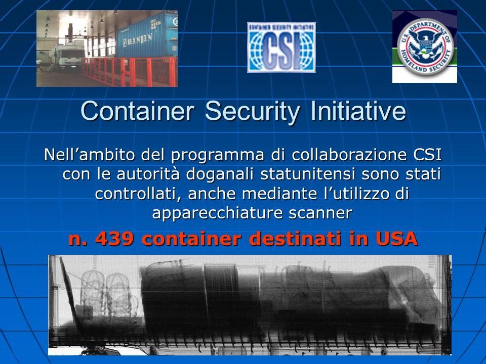 n. 439 container destinati in USA