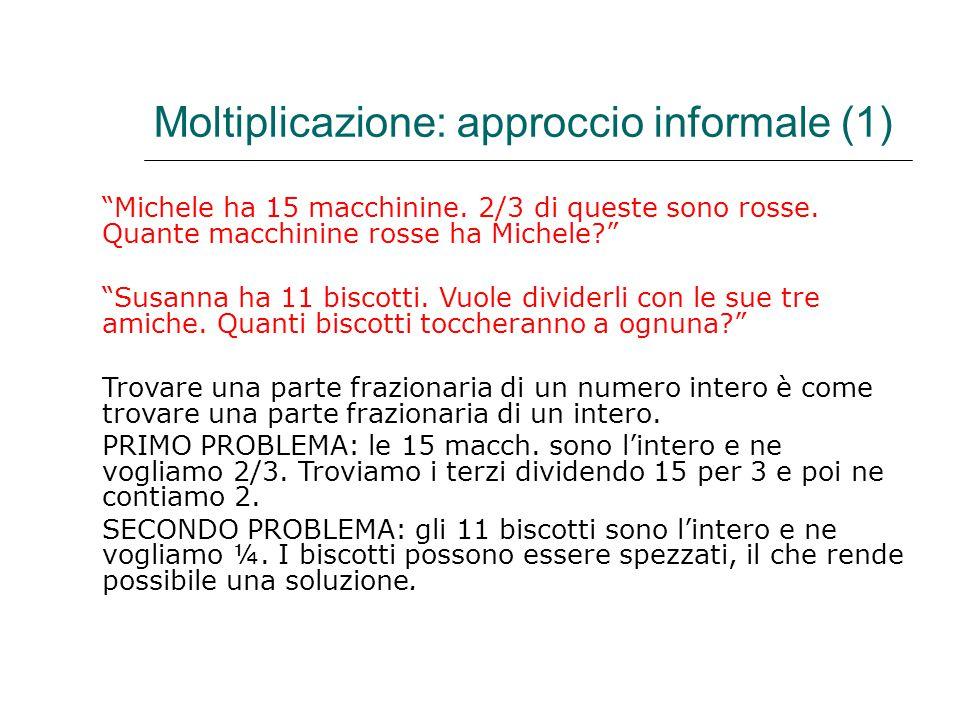 Moltiplicazione: approccio informale (1)